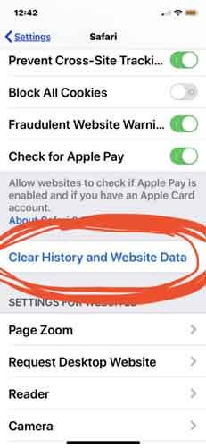 how delete safari cache
